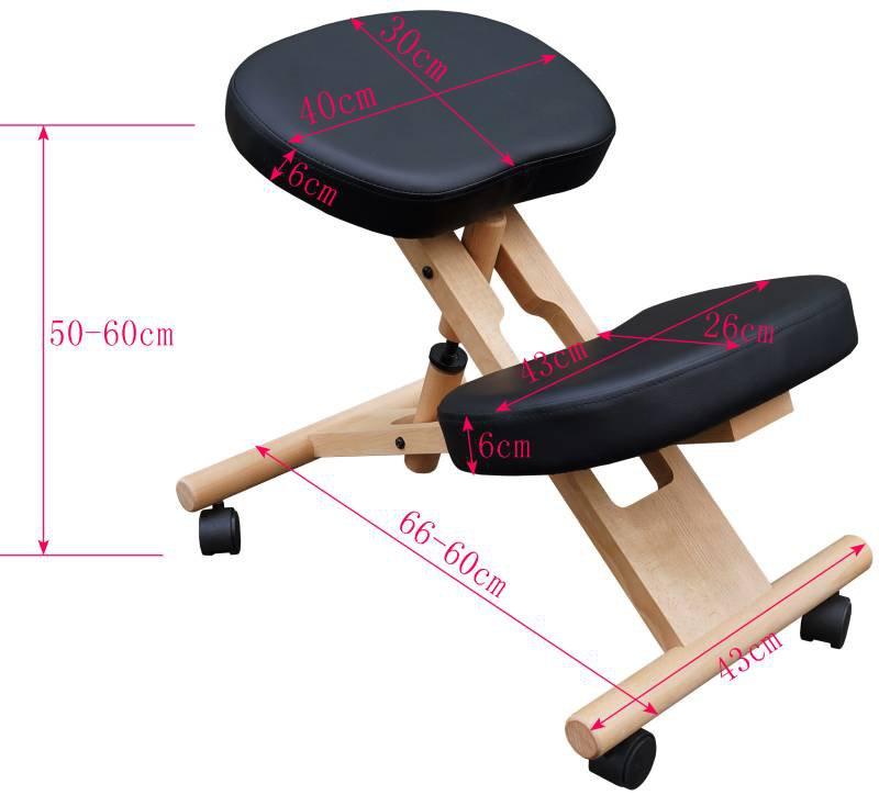 Ergonomischer Kniestuhl, Kniehocker mit 6 cm Polsterung, Massage Expe