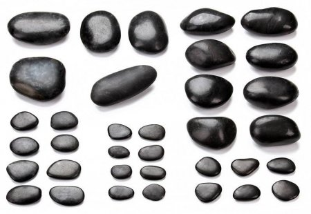 Hot Stone Set Gesichtsmassage mit 35 Hot Stones