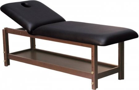Stationäre Holz-Massageliege, Holz, 190 x 70 cm, 2 Zonen