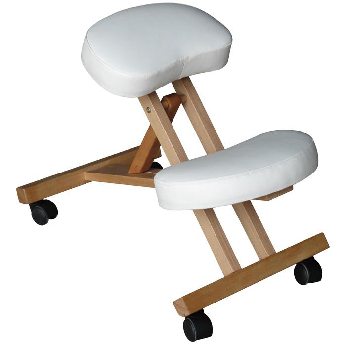 Ergonomischer Kniehocker, Kniestuhl in weiß, Holzrahmen, höhenverstellbar  eBay