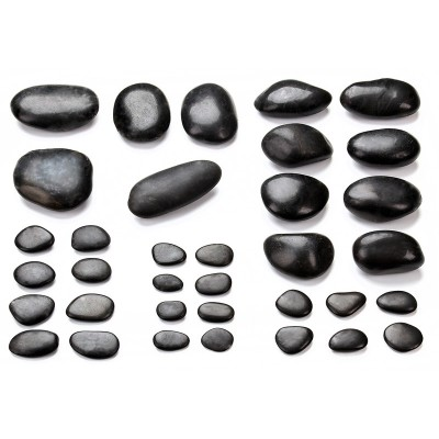 35 Hot Stones, Gesichtsmassage-Set