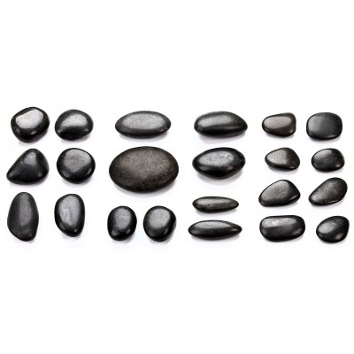 22 Hot Stones, Rückenmassage-Set