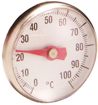 Einstechthermometer, Thermometer in Rot