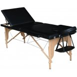 Mobile Massageliege Komfort, Holz, 195 x 70 cm, 3 Zonen